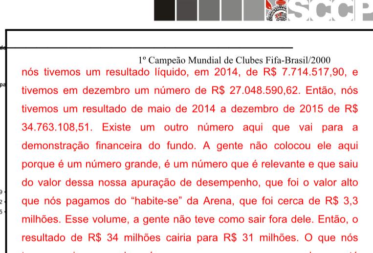 Rodrigo Cavalcante mostra o desempenho financeiro da arena