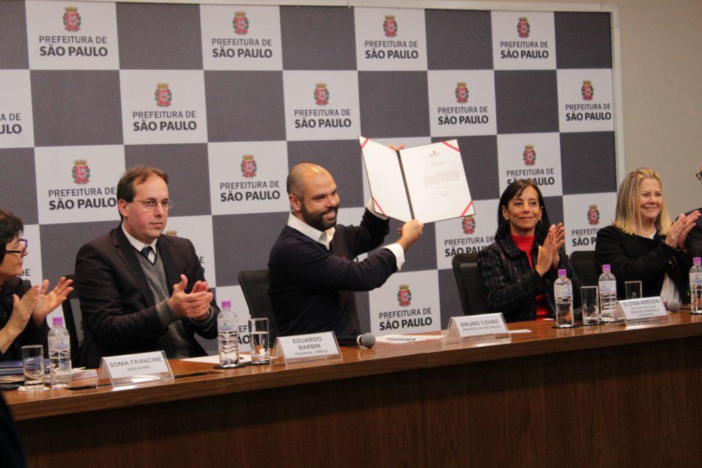 91f62dbe34 O prefeito Bruno Covas e a ex-secretária de Direitos Humanos e Cidadania
