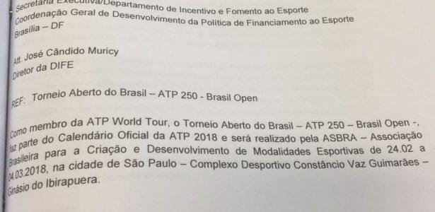 ATP não reconhece carta que Brasil Open usou para ter R  3 3f32e5d561506