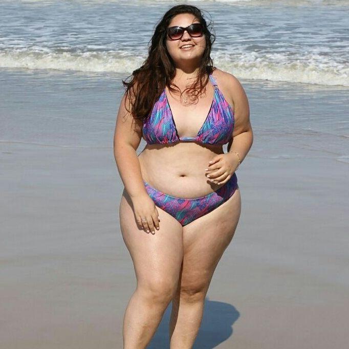 89ea56e17 Biquíni GG  mulher gorda vai usar estampa