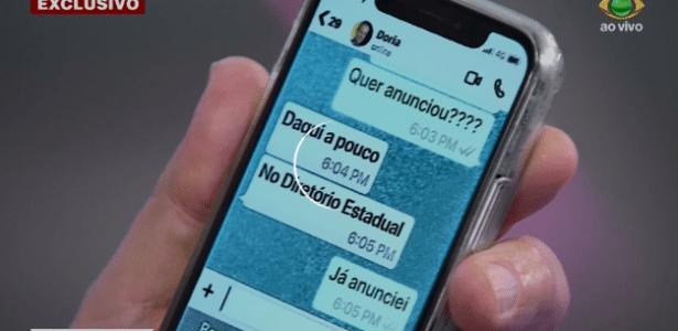 Ao vivo | Datena deixa vazar celular de Doria e pede desculpas