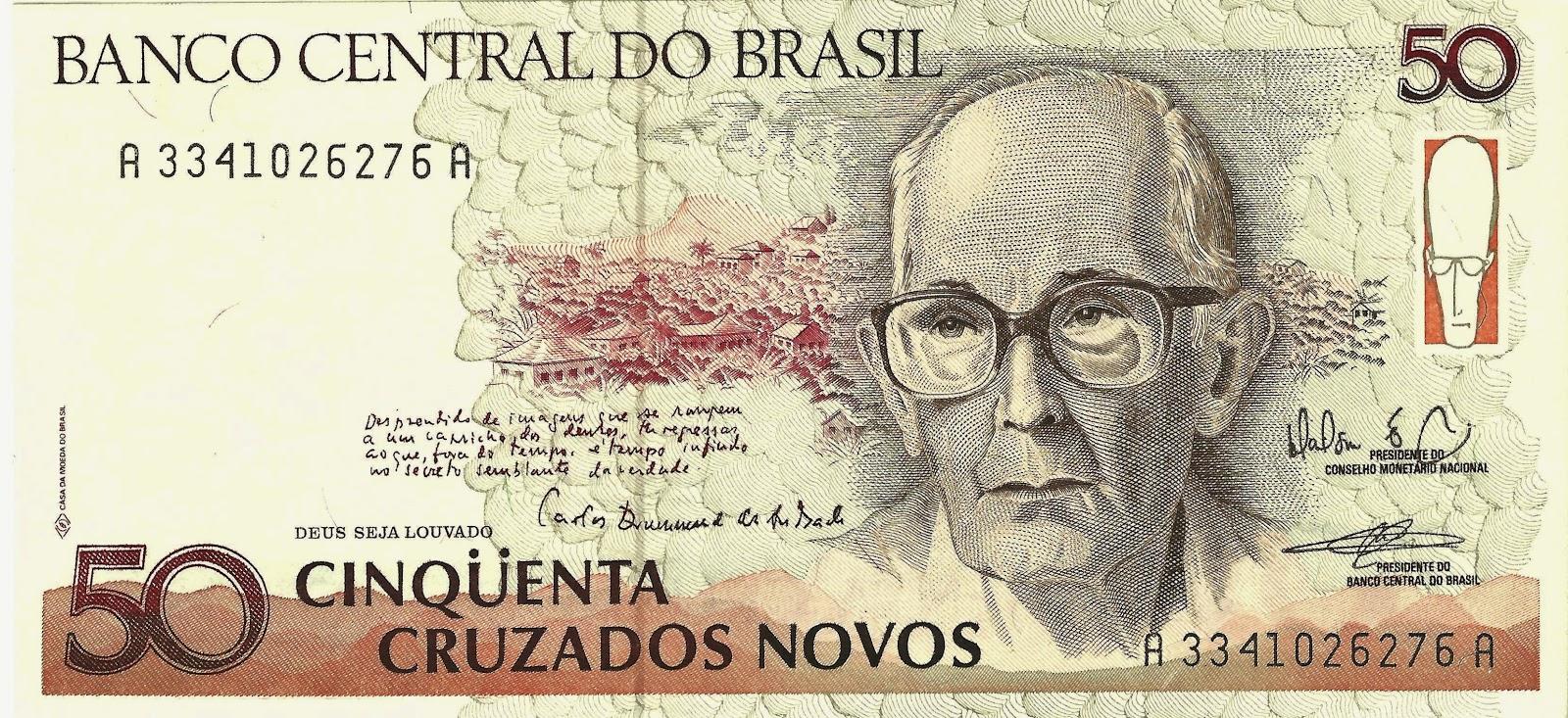 Quando o Brasil emitiu uma cédula com poemas de Carlos Drummond de ...