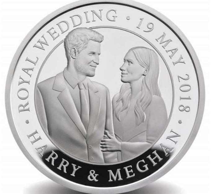 Moedas comemorativas do casamento real têm prata, ouro e cristais ... a34069e8c2