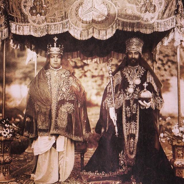 Coração do rei RasTafari Makonnen com a rainha Menen Asfaw