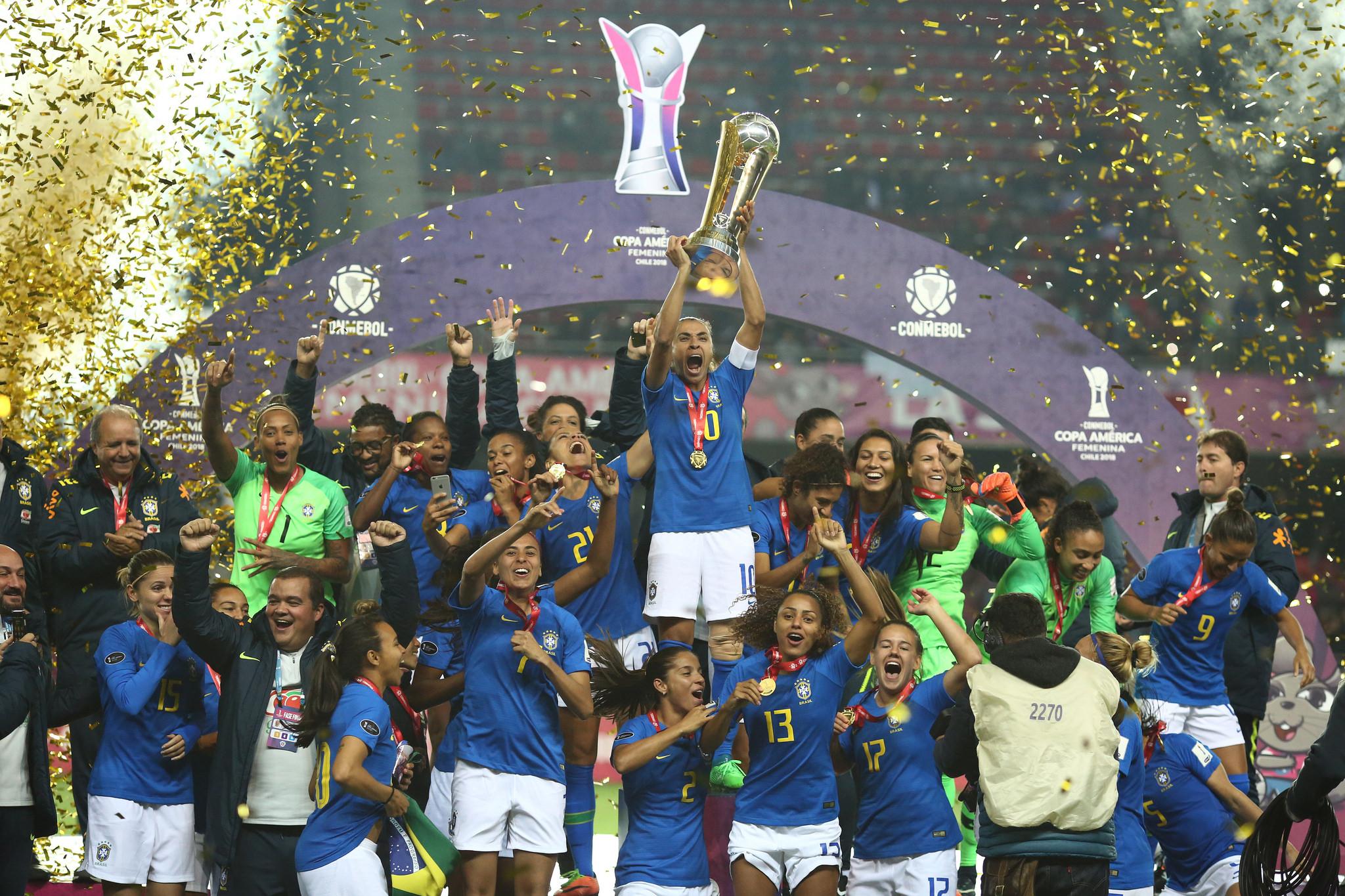 Foto  CBF. A seleção brasileira foi heptacampeã da Copa América de futebol  feminino ... 5534d01cf16de