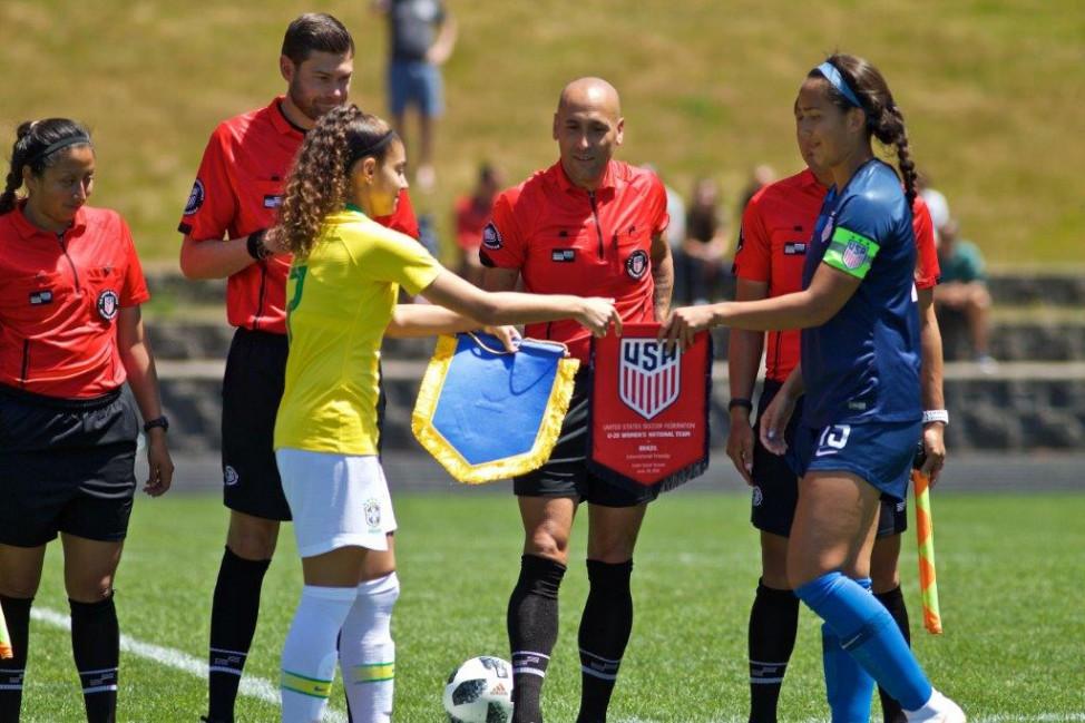 2f5bb4db25 Seleção feminina sub-20 em amistoso preparatório contra os Estados Unidos  (Foto  Sam Ortega CBF)