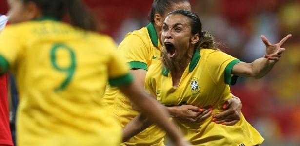 d862072b91ac0 Marta é a maior artilheira da história da seleção brasileira (Foto  Mowa  Press)