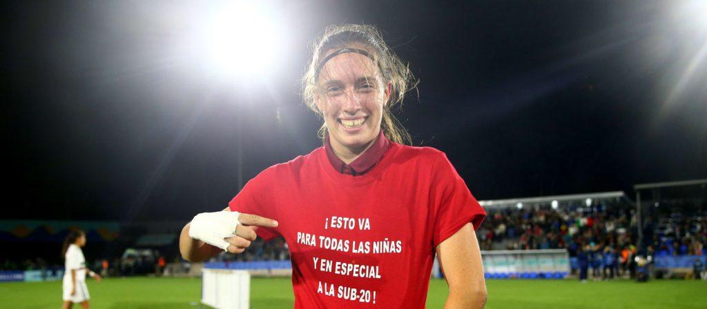 93ded1794b31c Eva Navarro dedica o título para as jogadoras do sub-20 (Foto  FIFA Getty  Images)