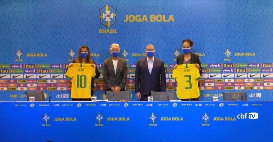 Futebol feminino brasileiro será pela primeira vez gerido por mulheres Foto: Reprodução / CBF TV