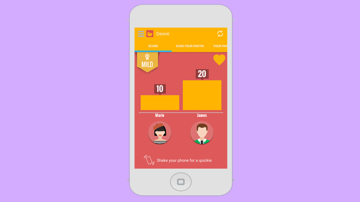 Shoot, monotony: app brings hot challenges to warm couples' lives