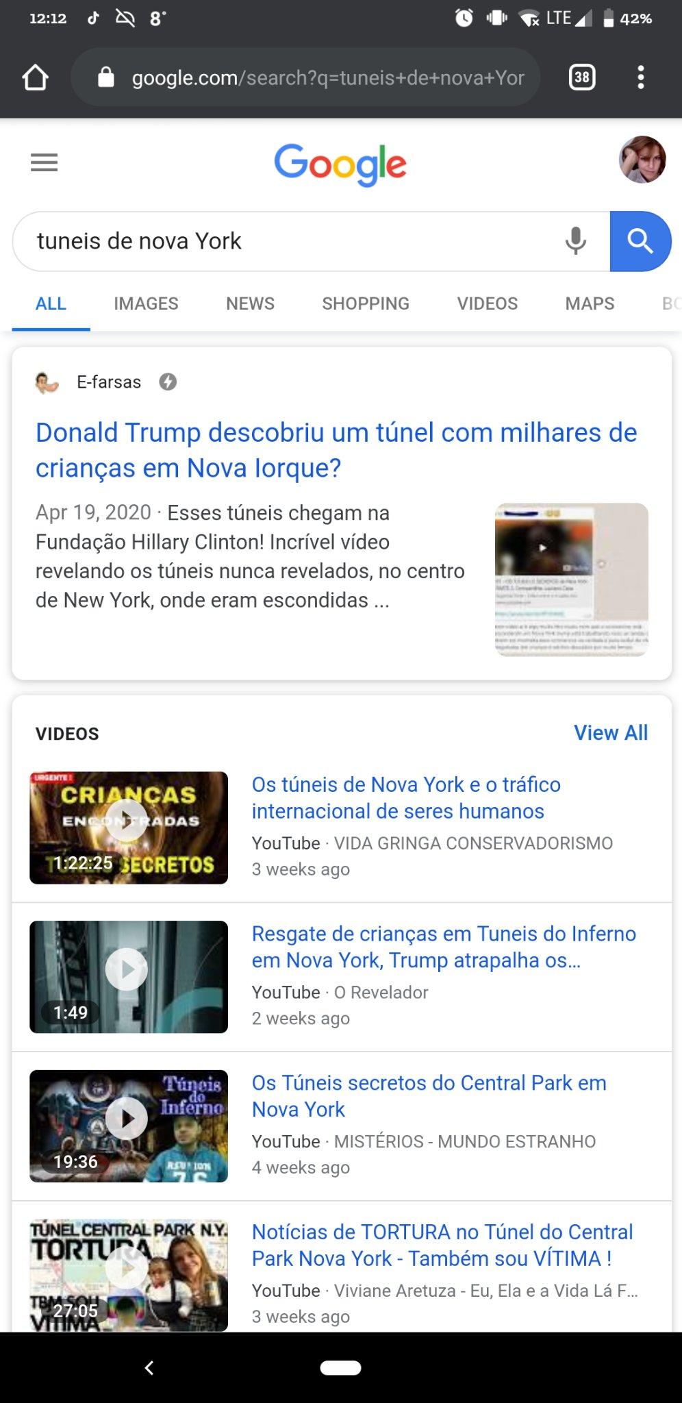 Resultado da busca no google pelas palavras
