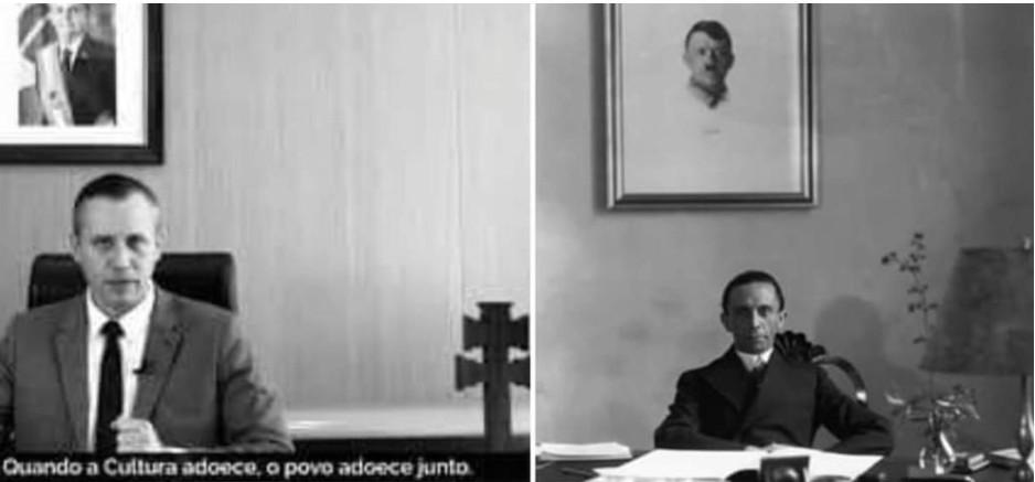 Discurso causa reações | 'Terrível semelhança': historiadores analisam vídeo de Alvim