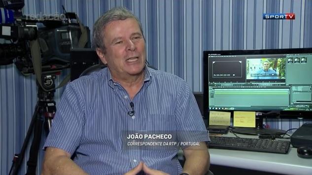 João Pacheco, correspondente da emissora portuguesa RTP (Crédito: Reprodução)