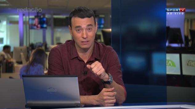 André Rizek, apresentador do Redação SporTV (Crédito: Reprodução)