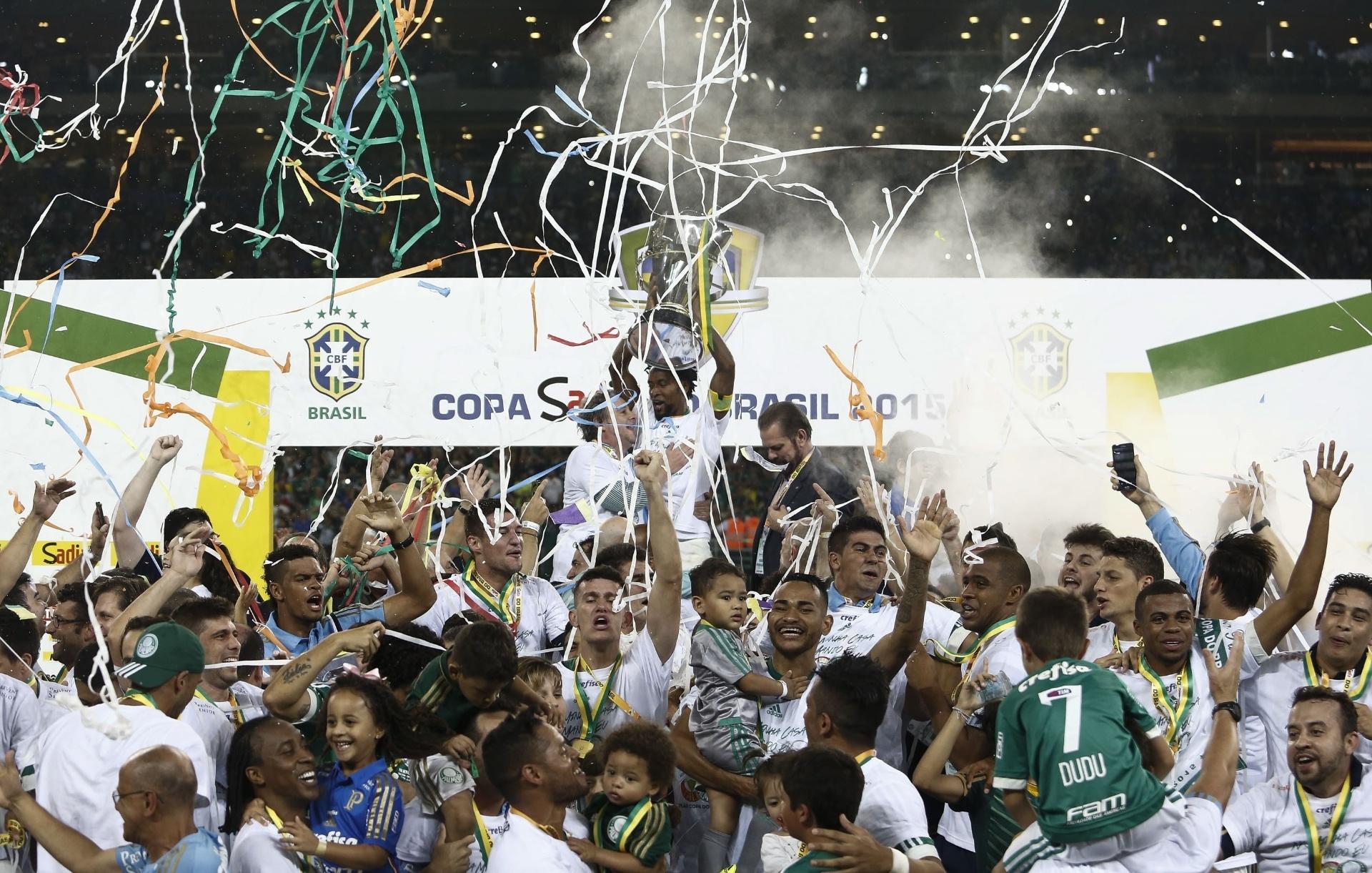 Palmeiras é o atual campeão da Copa do Brasil. Foto: AFP PHOTO / Miguel SCHINCARIOL