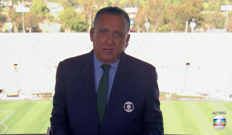 Galvão narrou o jogo entre Brasil e Equador