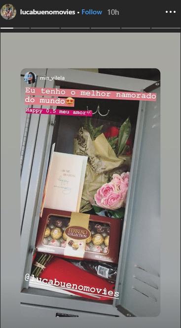 7278222f848544 Filho de Galvão surpreende em aniversário de namoro com flores e ...