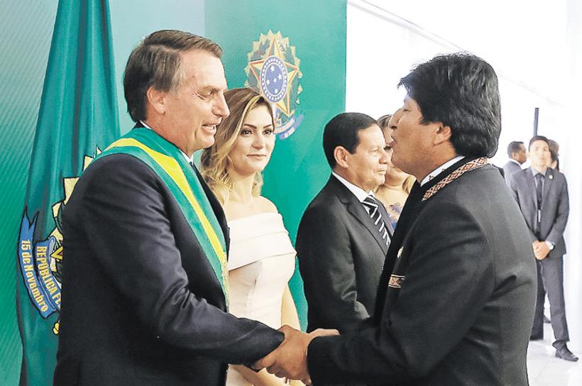 Bolsonaro e Evo