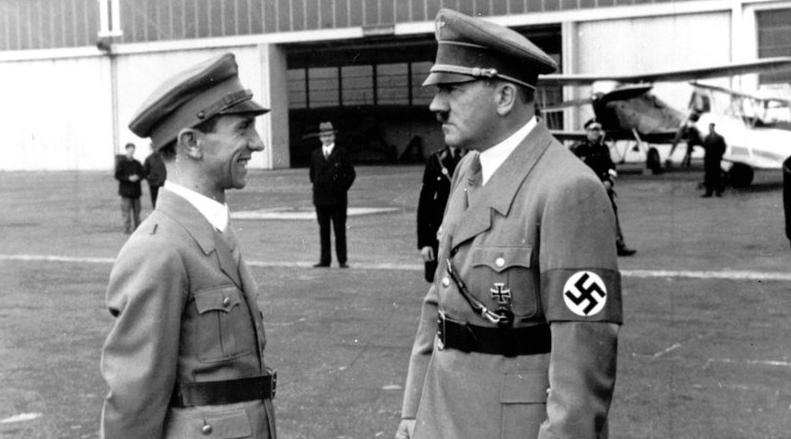 Goebbels e Hitler