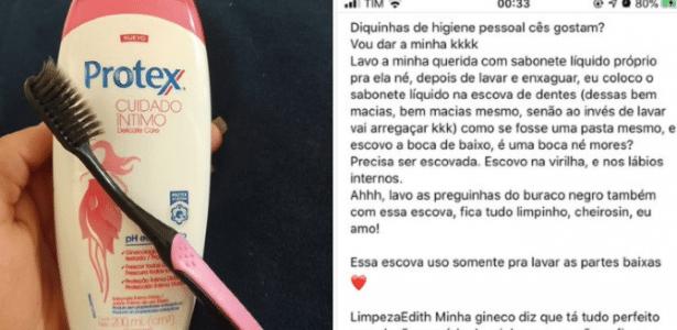 Higiene íntima | Moça diz que lava a vagina com escova de dente e choca web