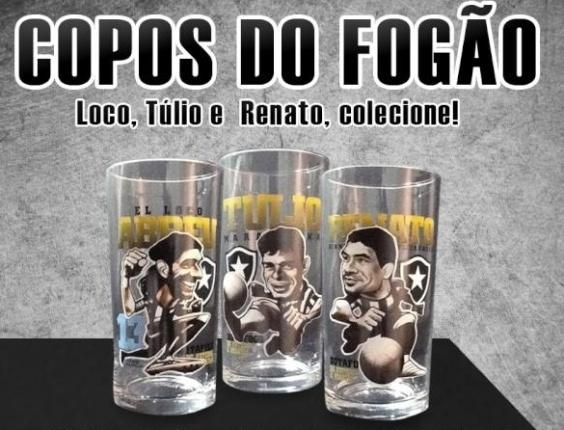 Botafogo e Vasco lançaram nesta sexta-feira suas coleções de copos  comemorativos com caricaturas de ídolos dos clubes. A primeira linha do  Cruzmaltino foi ... 7a35f42c83b72