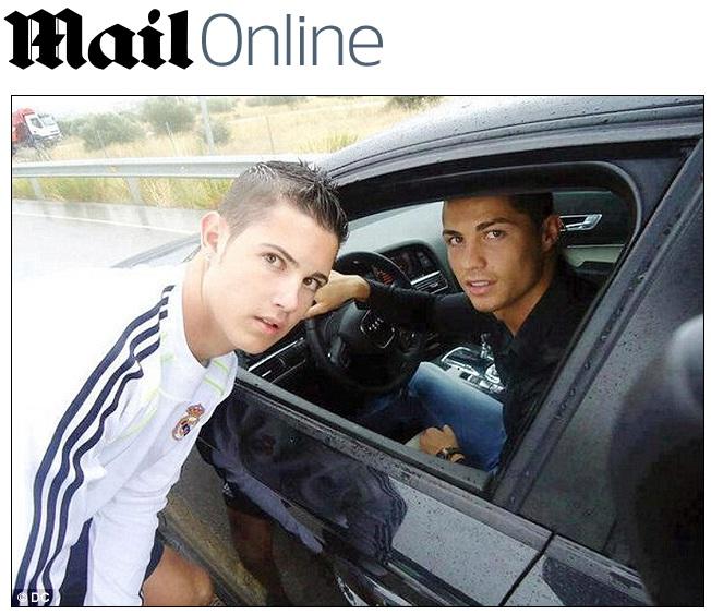 Cristiano Ronaldo Posa Com Sósia Antes De Treino Do Real