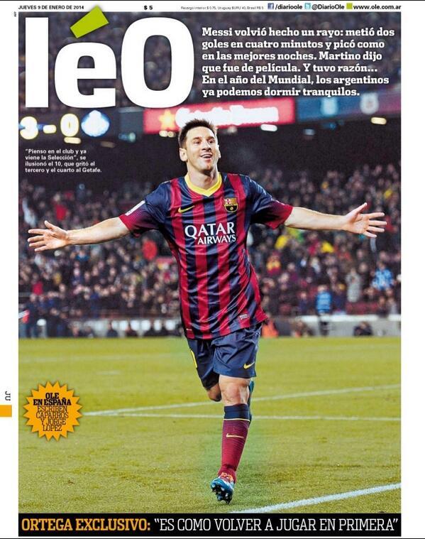 Jornal argentino Olé