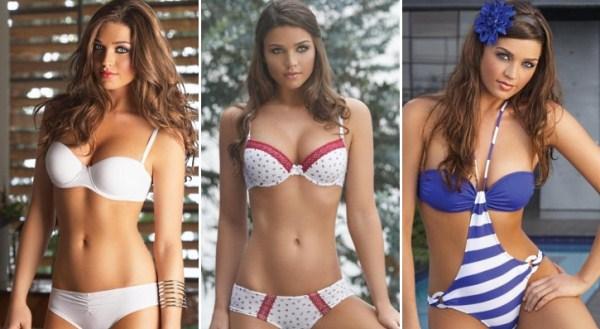 Lara também já fez trabalhos como modelo - e, como se vê, nessas imagens aparece de lentes azuis