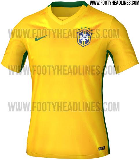8ff21e4339 brazil-2015-home-kit-1. A imagem da possível nova camisa da seleção  brasileira ...