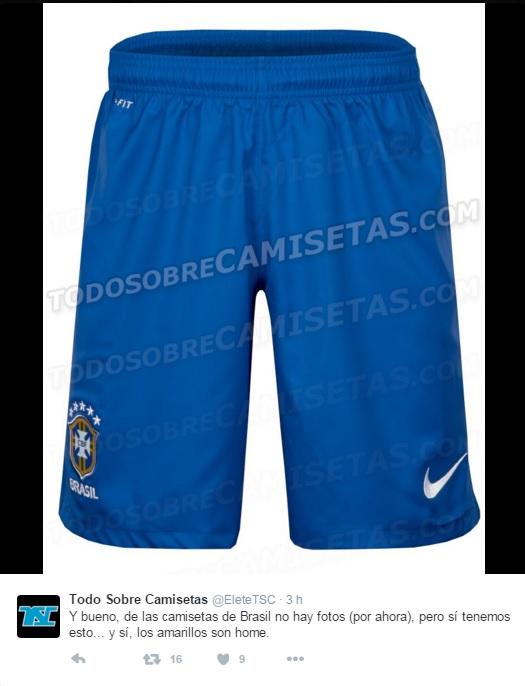 9b66d99eebe29 Site vaza nova bermuda amarela da seleção brasileira - UOL Esporte