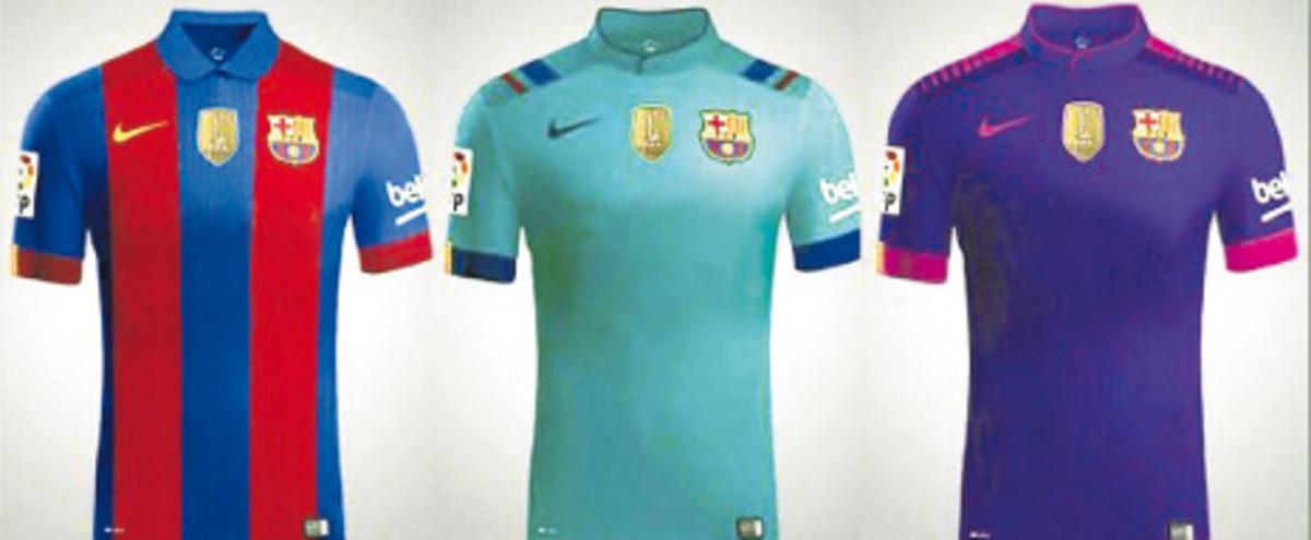 cf689b1501 Novo uniforme do Barcelona terá primeira leva sem patrocinador