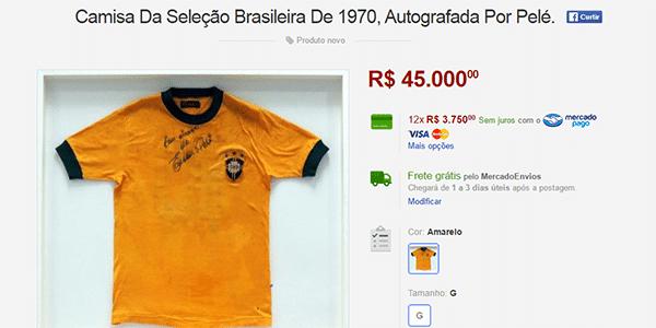 cf7a57af2c Valem mais do que carros  as camisas de jogos históricos mais caras ...