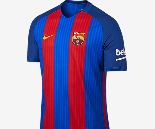 fc7f91452b A medalha de bronze entre as camisas mais caras do futebol internacional  ficou com o novo modelo do Barcelona