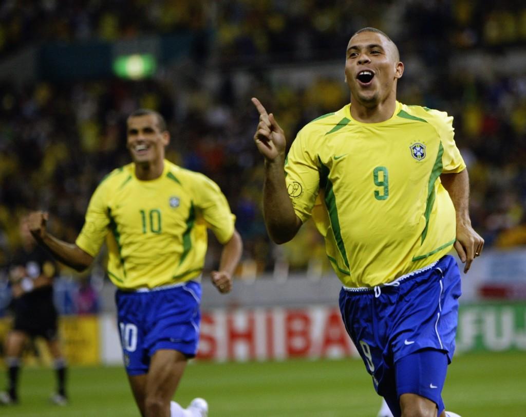 Ronaldo na Copa de 2002. Foto: Alex Livesey/Getty Images