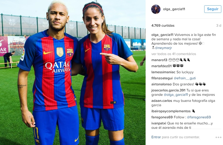 ¿Cuánto mide Olga García? (Futbolista) Olganeymar