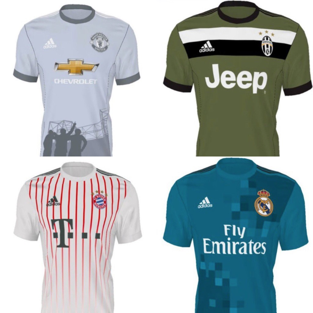 70ad1a1068 Site vaza possíveis terceiras camisas de quatro gigantes do futebol ...