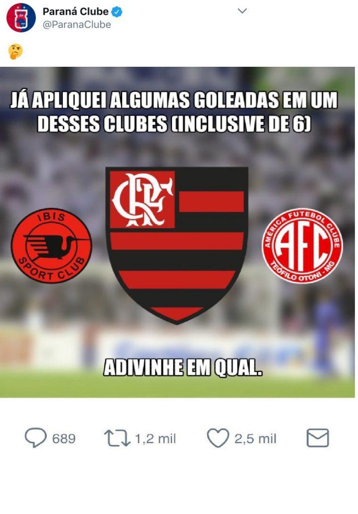 Paraná provoca Flamengo antes de duelo pela Primeira Liga - 20 08 ... f75ccbea3c52e