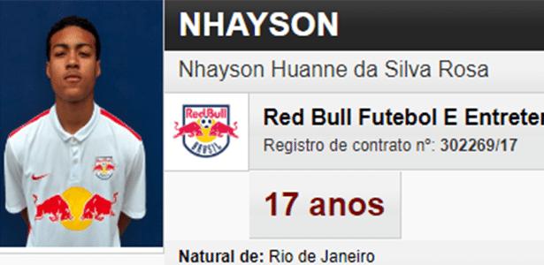 c8b912db48 A pronúncia do nome deste jogador do Red Bull Brasil não é das mais fáceis