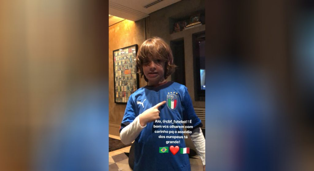 b1dc95b793 Assédio europeu  Caio Ribeiro exibe filho com camisa da Itália e alerta CBF
