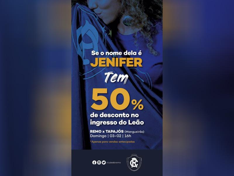 11842953d Conhece a Jenifer  Remo dará desconto de 50% para torcedoras ...
