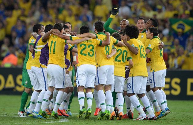 Seleção comemora conquista da Copa das Confederações