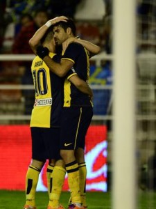 Diego Costa comemora gol contra Rayo Vallecano