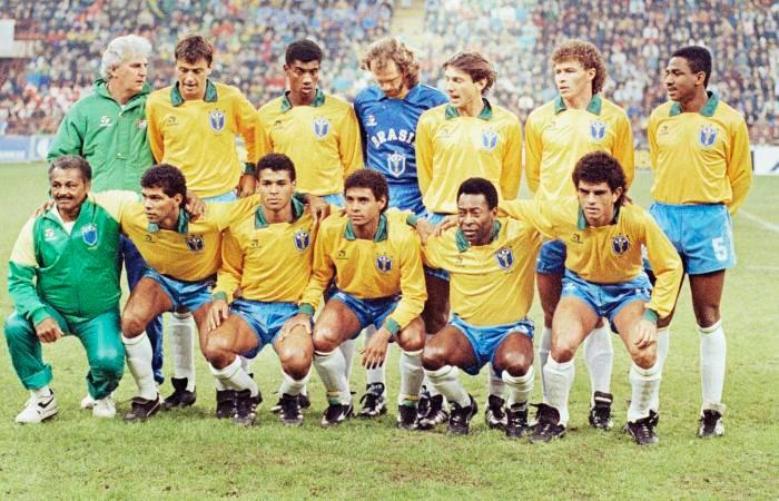 Seleção no amistoso dos 50 anos do Pelé