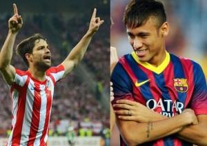 Diego e Neymar fizeram os gols do principal jogo da Liga