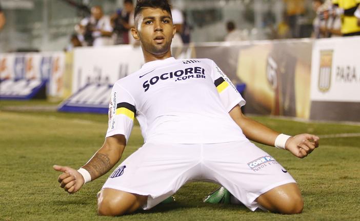 Gabriel tem 12 gols em 24 jogos pelo Peixe em 2014
