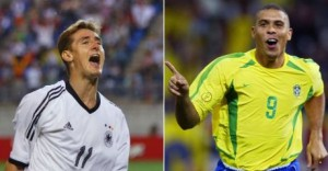 Klose vai para a Copa com 14 gols. Um a menos que o recordista Ronaldo