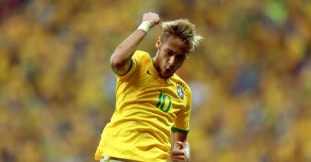 Neymar fez dois gols na goleada do Brasil por 4 a 1 contra Camarões