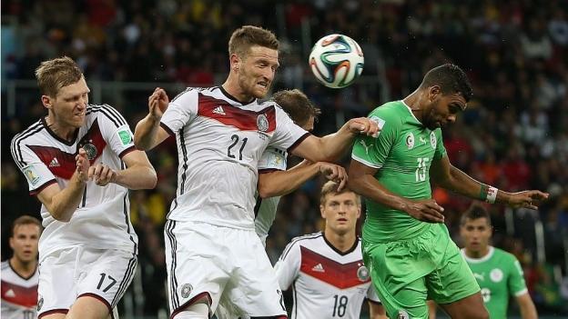 Alemanha sofreu para vencer a Argélia na prorrogação