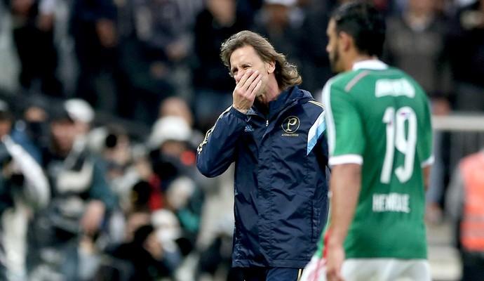 Ricardo Gareca parece estar perdido no comando do Palmeiras