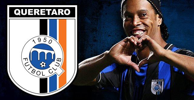 Ronaldinho acertou com o desconhecido Quéretaro do México